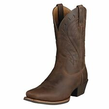 ARIAT MENS LEGEND PHOENIX SQUARE TOE COWBOY BOOTS! TOASTY BROWN 10002310 35790