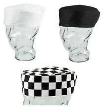 Pack of 5 10 Professional Chefs Skull Cap Cooks Catering Kitchen Hat One Size