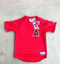 NWT NEW RED ANAHEIM L.A CALIFORNIA ANGELS BATTING PRACTICE JERSEY BOYS 10 12 14