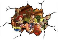 TOY STORY CRACKED WALL / WINDOW EFFECT Decal STICKER Home Decor Art Movie Mural