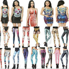 Fabulous Cocktails Party Top dress Punk Gothic Stylish Galaxy Leggings Pants