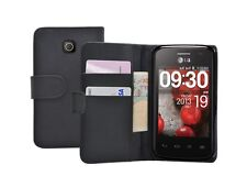 WALLET Leather Flip Case Cover Pouch for LG E410 Optimus L1 II 2 / E410i