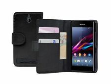 WALLET Leather Flip Case Cover Pouch for Sony Xperia E1 / D2004 / D2005 experia