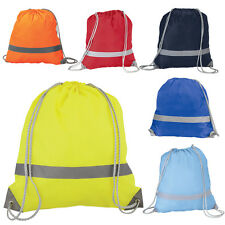 A BRIGHT HIGH VISIBILITY DRAWSTRING RUCKSACK BAGS - SCHOOL TRIPS BOOK PE GYM