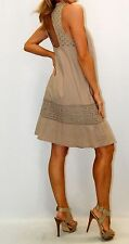 URBAN MANGO Mocha Detailed Back yoke and hemline DRESS Sz S/M/L/XL New