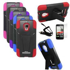 Phone Case For Alcatel One Touch Evolve Corner Cover Stand Car Charger Film