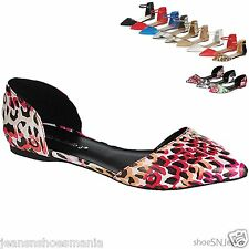 New Women Classy Sandals Open Sides Ankle Strap Pointed Toe D'orsay Flat Shoes
