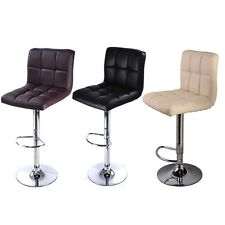 2PC Bar Stool PU Leather Barstools Chairs Adjustable Counter Swivel Pub Style