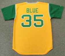 VIDA BLUE Oakland Athletics 1969 Majestic Cooperstown Throwback Baseball Jersey