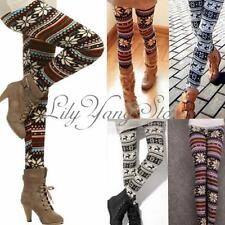 Sexy Women Slim Warm Pencil Pants Print Skinny Stretchy Insulated Leggings US