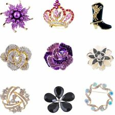 Fashion NEW Brooch Pin Wedding Party Costume Brooch Pin Mix Rose Crown Flower