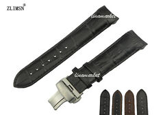 22mm 23mm 24mm Top grade Genuine leather Watch Band strap Curved end for T-I-S——