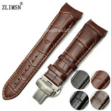 22mm 23mm 24mm Top grade Genuine leather Watch Bands straps Curved end for TIS--