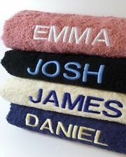 NEW PERSONALISED flannel hand bath TOWEL SET EMBROIDERED with ANY NAME