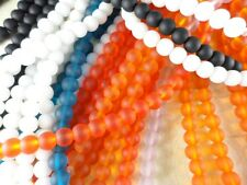 1 Strand Sea Glass 8mm Round Beads You Pick Color