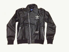 Brand New Adidas Chile 62 Biker Jacket Coat Black Faux Leather Rrp £135 Mens Top