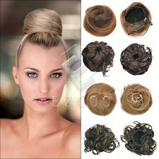 Wholesale New Synthetic Fiber Hair Bun Clip on Extension Hairpiece Free Ship