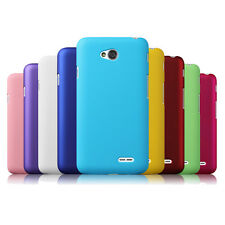 Hard Rubberized Snap-On Cover Case Slim For LG Optimus L70 D325 MS323 Exceed 2