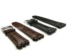 26 x 22mm or 22 x 19mm Black Brown Genuine leather Watch Bands Strap For SWA——