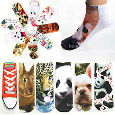 New Low Cut Ankle Socks 3D Printed Animal Panda Wolf Multicolor Unisex Fashion