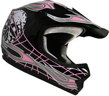 Youth Kids Motocross Motorcross Dirt Bike Off-Road ATV Pink Skull Helmet~S, M, L