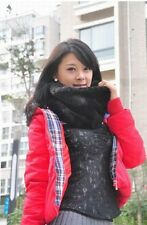 Women winter warm soft stylish fashion Faux Fur Bib Chiffon shawl scarves Stole