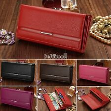 New Women Fashion Leather Wallet Button Clutch Purse Lady Long Handbag Bag Hot