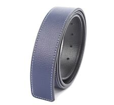Mens Genuine Leather Belt Slide Strap Without Buckle
