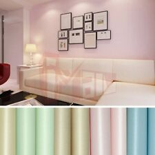 10M non-woven Plain Colored Wallpaper Rolls for Hallway Cafe Bar Home Decoration