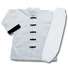 White with Black frogs kung fu uniform set. NEW.  All Sizes #1390