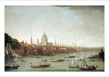 ANTONIO JOLI City Of London PRINT new CANVAS choose SIZE, from 55cm upwards, NEW