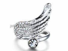 Angel Wing Ring use Swarovski Crystal SR209