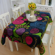 Tablecloth Table Circle Geometric Art Pattern Covers For Dinner Home Decor New