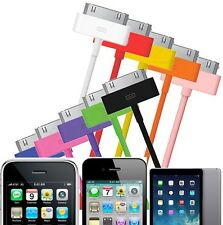 COLOUR USB DATA SYNC CHARGER CABLE LEAD for iPHONE 4 4S 3GS iPOD iPAD 1 2 3