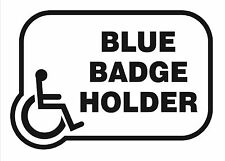 Disability Sticker Blue Badge Holder Disabled Vinyl Decal x 2 Stickers