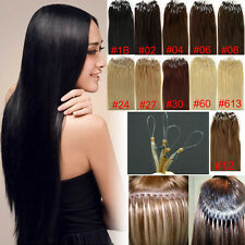 Brazilian Remy Human Hair Extensions Easy Loop Micro Rings Beads Tipped 100s US