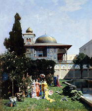 "ALBERTO PASINI ""A Corner in the Garden of the Harem"" WOMEN parasol sunny NEW!!!"