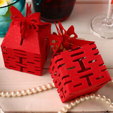 Quality Red Butterfly Wedding Box Bomboniere Candy Box Favour Party Box Supply