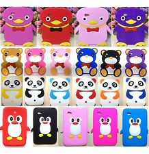 """3D Panda Penguin Soft Rubber Case Cover F Samsung Galaxy Tab 2 7.0"""" Tablet P3100"""