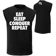 "WWE Brock Lesnar ""Eat, Sleep, Conquer, Repeat."" Muscle T-Shirt S M L XL 2XL 3XL"
