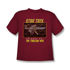 Star Trek Original The Tholian Web T-Shirt Youth Boy Girl Cardinal S M L XL