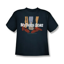 My Three Sons Shoes Logo T-Shirt Youth Boy Girl Navy Blue S M L XL