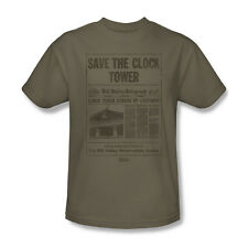Back To The Future Clock Tower T-Shirt Adult Men Safari Green S M L Xl 2X 3X