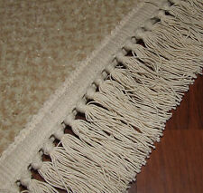 RUG FRINGE Replacement COTTON Fringe Natural Cotton Envelope Fringe £3 Per Foot