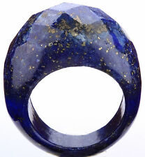Mens women natural lapis lazuli rings handcrafted artisan Jewelry;size 11-11.75