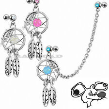Dream Catcher Ear Piercing Cartilage Stud Earring Dangle Helix Tragus Cuff E66