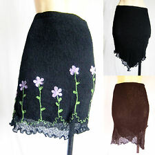 Soft Knitwear Skirt Black Stretch Lined Thicker Material Winter/Summer New