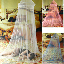 Elegant 3Color Bed Mosquito Netting Mesh Canopy Princess Round Dome Bedding Net