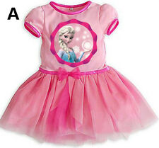 Frozen Elsa Anna  Baby Custom Cosply Tutu Dress Kids Girls for1-8 Years 3 colors