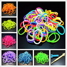 DIY 600 For RAINBOW Rubber Loom Bands bracelet faire S clips crochet pendentif